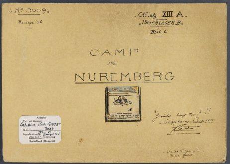 01 1 462x330 [Lœuvre de la semaine] Le carnet de dessins dun prisonnier au Camp de Nuremberg