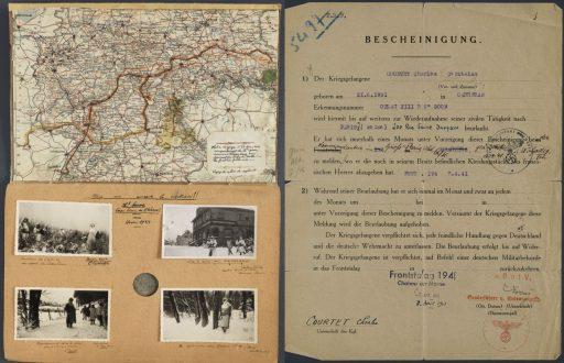 02 512x330 [Lœuvre de la semaine] Le carnet de dessins dun prisonnier au Camp de Nuremberg