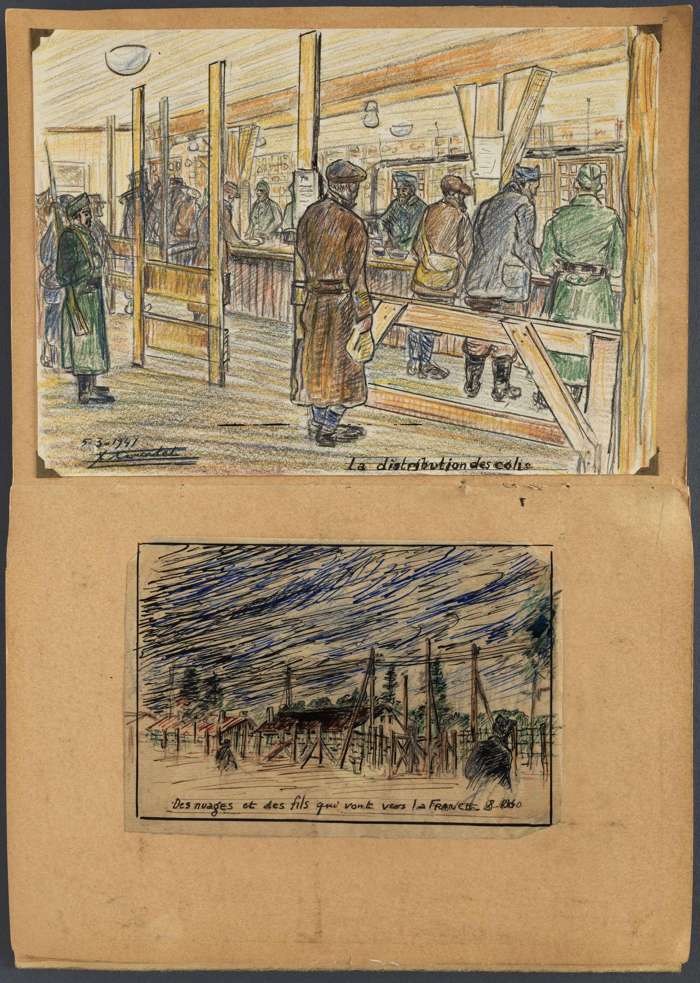 03 [Lœuvre de la semaine] Le carnet de dessins dun prisonnier au Camp de Nuremberg