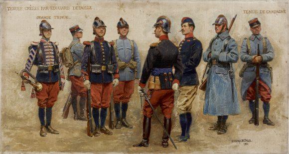 Projets pour les nouveaux uniformes de l'armée française, 1912, Detaille