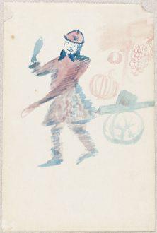 Autoportrait en canonnier- par Guillaume Apollinaire