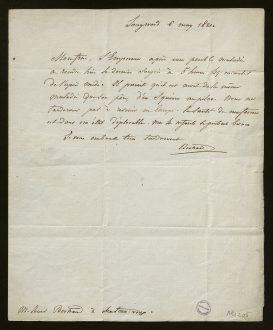 Lettre du général Bertrand