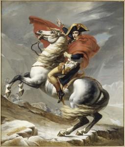 MA BA NapoleonEurope David Grand St Bernard 255x300 Petite histoire de laffiche Napoléon et lEurope