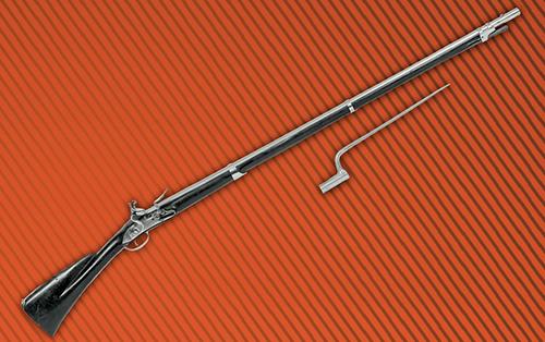 Fusil d'infanterie modèle 1728 avec baïonnete