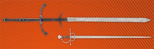 Epée à deux mains allemande ou suisse, 1ere moitié du XVIe siècle