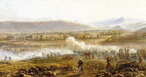 Bataille de Trakir le 18 août 1855