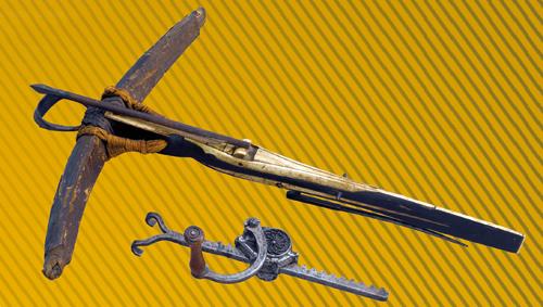 Arbalète et son cric ou cranequin, vers 1480