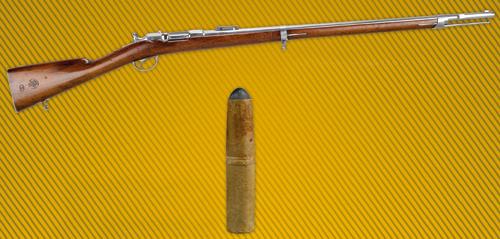 """Fusil d'infanterie modèle 1866 dit """"Chassepot"""", cartouche de 11mm"""