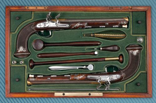 Coffret de pistolets d'apparat, vers 1803-1804