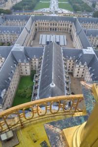 Visite Francis Huster pour Opéra en plein air : les gradins depuis le Dôme
