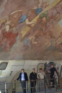Visite Francis Huster pour Opéra en plein air : dans le Dôme des Invalides
