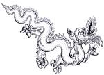 """Exposition """"Indochine. Des territoires et des hommes, 1856-1956"""", pictogramme dragon, parcours jeune public"""