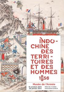 """Affiche de l'exposition """"Indochine. Des territoires et des hommes, 1856-1956"""""""