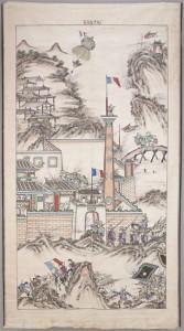 Tenture représentant la prise de Son Tay les 16 et 17 décembre 1883