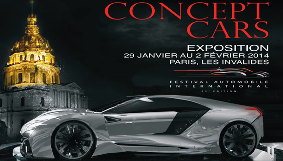 Affiche Festival Automobile International 2014 exposition Concepts cars