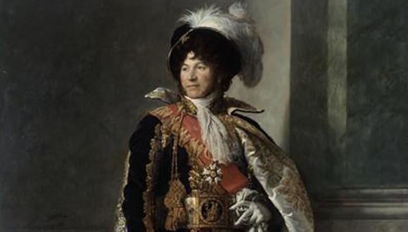 Retour du portrait de Joachim Murat (1764-1815) en grande tenue de maréchal de l'Empire : bandeau