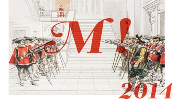 Bonne Année voeux 2014, image exposition Mousquetaires !