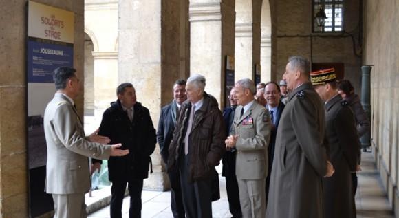"""Inauguration de l'exposition """"Les soldats du stade, une armée de champions."""""""