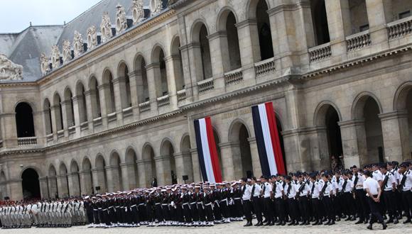 Honneurs militaires rendus au Président chinois 26 mars 2014