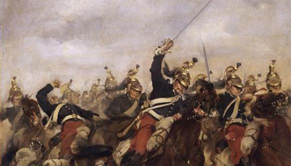 Charge de la brigade de dragons Bachelier contre la quatorzième brigade de cavalerie prussienne à Rezonville le 16 août 1870 © Paris - Musée de l'Armée, Dist. RMN-GP