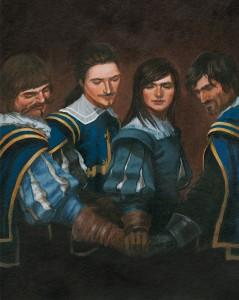 """""""Les Trois Mousquetaires d'Alexandre Dumas"""", illustré par Christel Espié © 2013, Editions Sarbacane"""