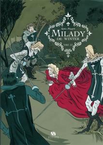 """Illustration couverture """" Milady de Winter """" tome 2 par Agnès Mauprè © Ankama éditions – 2012"""