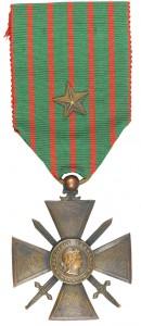 Croix de Guerre avec citation au régiment © Paris, musée de l'Armée dist. RMN-GP