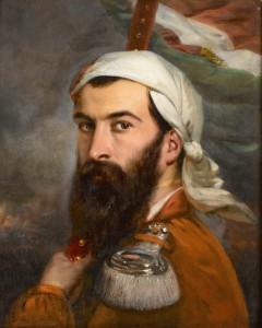 Giuseppe Garibaldi (1807-1882) peint par Estienne Auguste (1784-1865). Portrait est exposé dans le département « De Louis XIV à Napoléon III » du musée de l'Armée © Paris, musée de l'Armée  dist RMN-GP