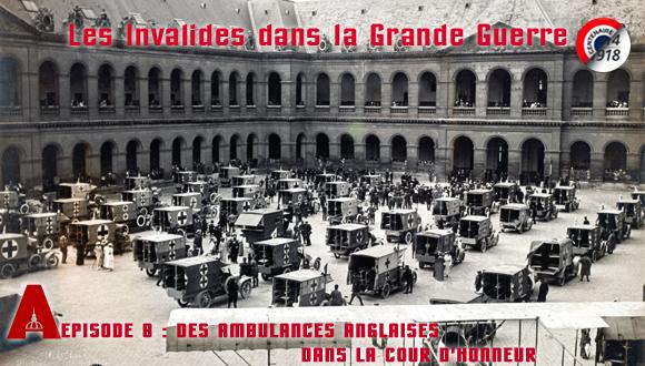 Ambulances anglaises dans la cour d'honneur © Paris, musée de l'Armée dist. RMN-GP