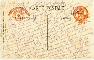 Carte postale Louis Vidal verso © Paris, musée de l'Armée