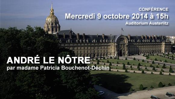 "Conférence SAMA, ""André le Nôtre"" 9 octobre 2014"