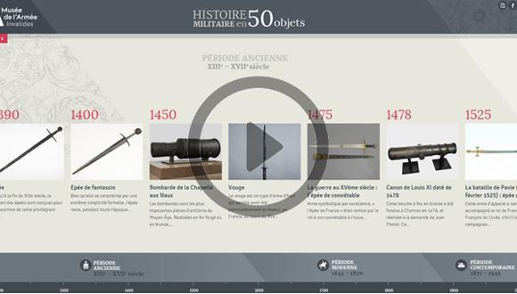 Timeline de l'histoire militaire en 50 objets : bandeau