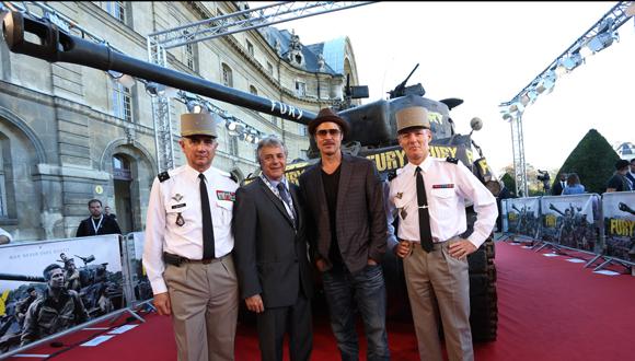"""Présentation presse du film """"Fury"""" aux Invalides : bandeau"""