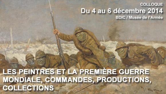 """Colloque """"Les peintres et la Première Guerre mondiale, commandes, productions, collections"""" : bandeau"""