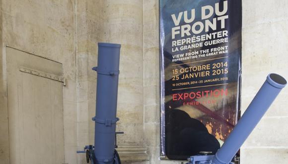 """Les mortiers de l'exposition """" Vu du front """" : bandeau"""