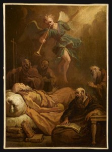 La mort de Saint Jérôme, par Bon Boullogne, l'Aîné (1649-1717)