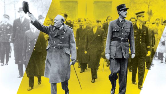 """Exposition """"Churchill-De Gaulle"""" : 50e anniversaire des obsèques de Winston Churchill"""