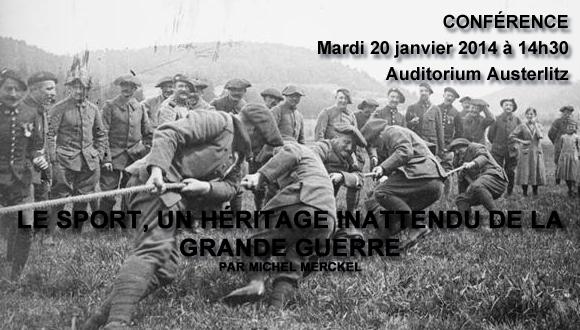 """Conférence SAMA """"le sport, un héritage inattendu de la Grande Guerre"""" : bandeau"""