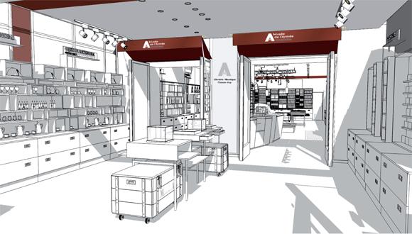 comptoir boutique interesting comptoir d accueil magasin rouge laqu with comptoir boutique. Black Bedroom Furniture Sets. Home Design Ideas