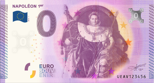 Billet 0 €uro souvenir : Napoléon