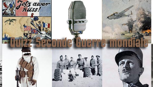 Quizz Seconde Guerre mondiale sur Facebook