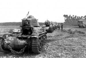 La 1ère compagnie de chars de combat équipée de Renault R35 © musée de l'ordre de la Libération / DR