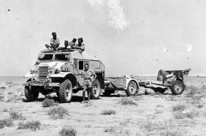 Pièce d'artillerie de la 3ème batterie, vers 1942 © musée de l'ordre de la Libération / DR