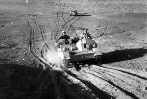 Bren Gun Carriers of the Foreign Legion, near Bir Hakeim. Libya, May 1942 © the Musée de l'Ordre de la Liberation / All rights reserved