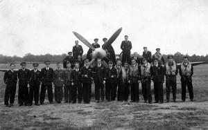 Le groupe de chasse Alsace à son arrivée à Biggin Hill, Angleterre, en mars 1943 © musée de l'ordre de la Libération / DR