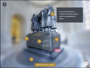 Programme Dôme interactive : tombeau 3D Foch