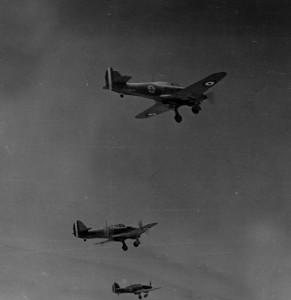 Les chasseurs Hurricane de l'escadrille française de chasse n° 1 © musée de l'ordre de la Libération / DR