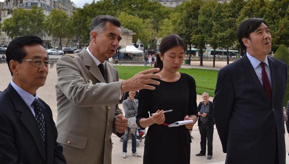 Visite délégation chinoise le 8 septembre 2015 : bandeau