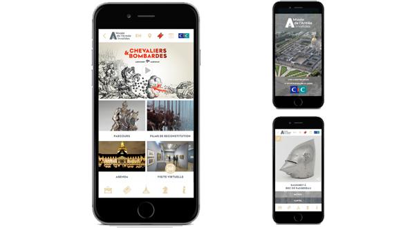 """Application """"musée de l'Armée"""""""