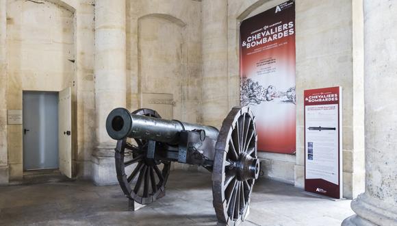 Canon aux armes de François Ier : bandeau